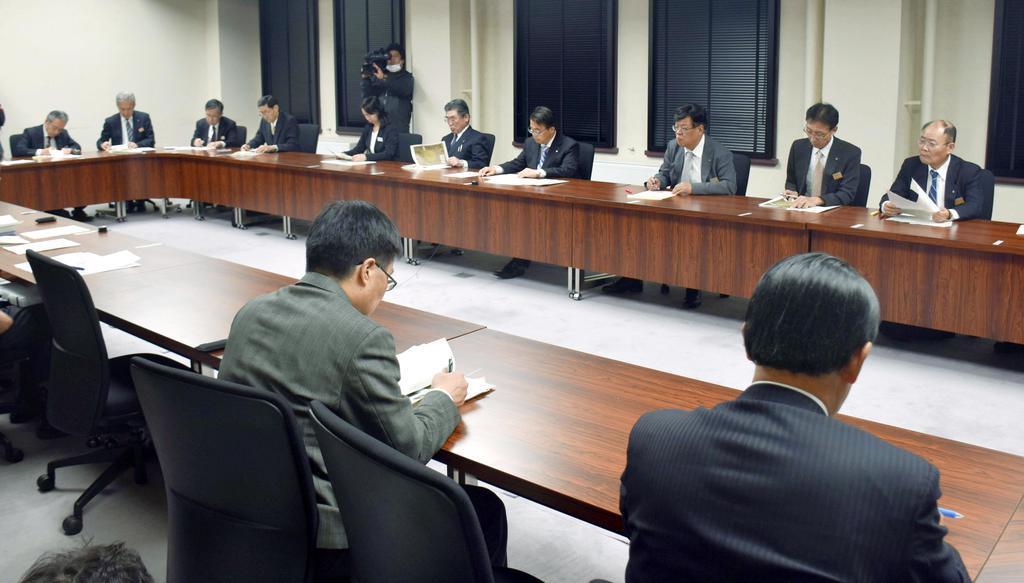 愛知県庁で開かれた豚コレラ緊急対策会議=5日午後