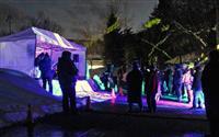 星と雪と幻想的な調べ たじま高原植物園で初の野外フェス 冬季観光に期待
