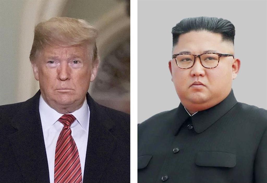 (左から)トランプ米大統領(ゲッティ=共同)、北朝鮮の金正恩朝鮮労働党委員長