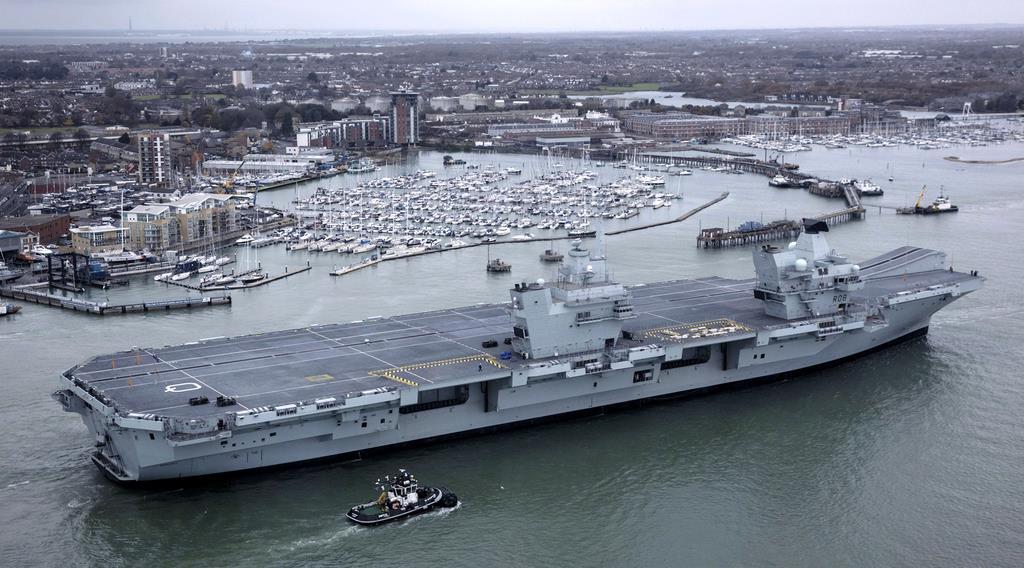 英海軍の最新鋭空母「クイーン・エリザベス」=2017年11月