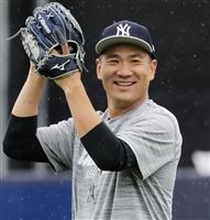 田中「仕上がりは早い」 6年目キャンプへ準備万全