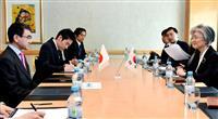 日韓外相会談、徴用工問題で河野太郎氏が早期の協議督促