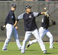 ヤンキース田中がキャンプイン 平野は投球練習 大リーグ
