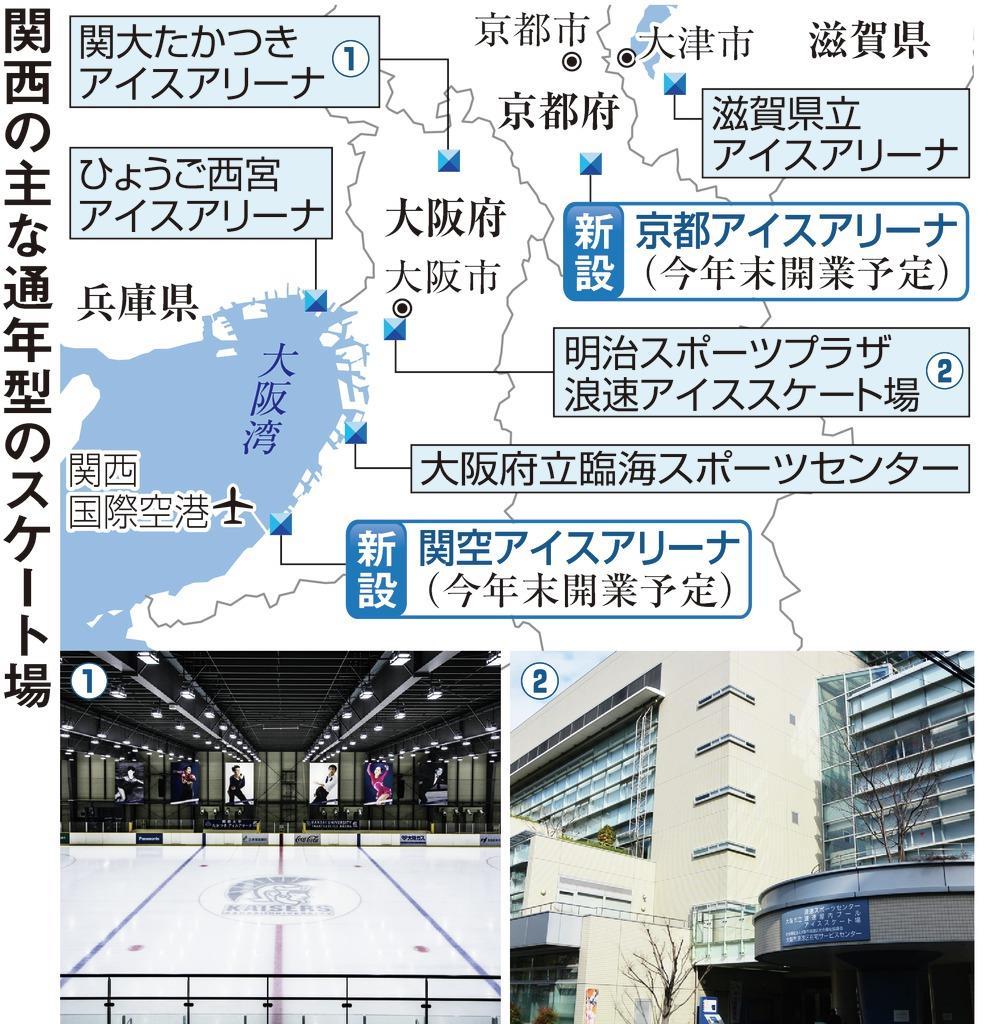 京都、大阪に新たなスケートリンク フィギュア人気、訪日客も狙…