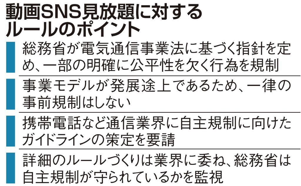動画SNS見放題に「待った」 総務省がルール整備案