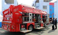 新救助工作車を披露 福知山市消防本部が導入