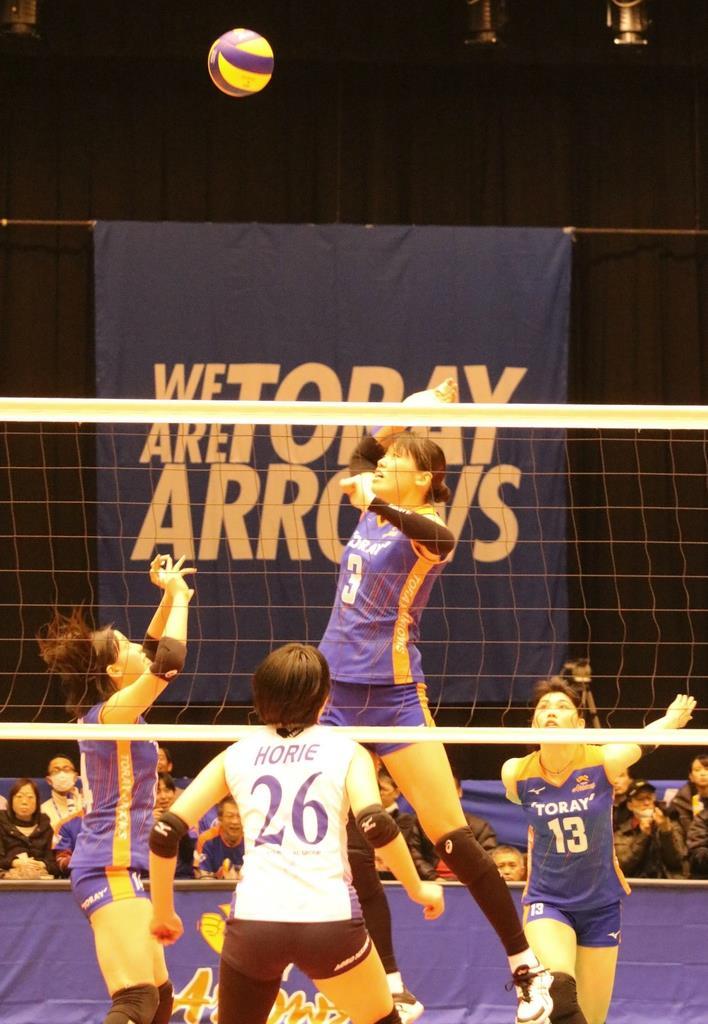 V1リーグ女子の東レアローズがファイナル8 滋賀