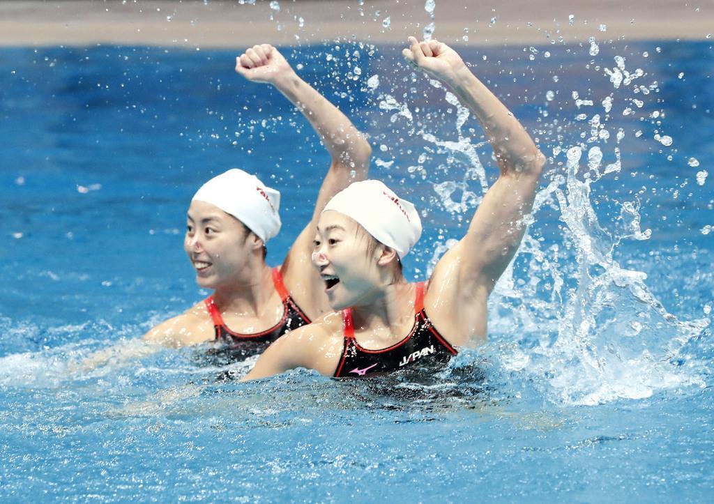 世界水泳「メダル取る」 アーティスティック代表合宿