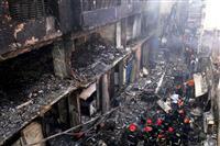 バングラデシュで火災、70人死亡 旧市街の建物密集地