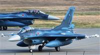 飛行中止中のF2戦闘機が発進 北海道地震に対応