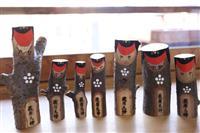 台風21号で倒れたご神木で「木うそ守り」 堺の萩原神社