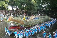 「龍蛇ふる里会館」来月完成 鶴ケ島、4.5メートルのミニモデル展示