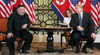 米朝会談、両首脳が冒頭から成果アピール