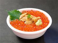 「魚ジャパンフェス」注目メニュー(1)贅沢三昧の「いくら&うにの丼ぶり」