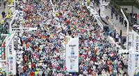 【東京マラソン】3万8千人が雨の中でスタート