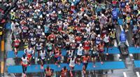 【東京マラソン】5キロ通過、先頭集団に大迫ら