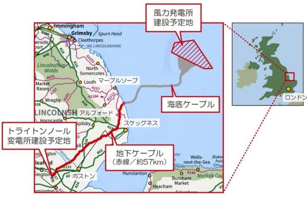 トライトン・ノール洋上風力発電所の建設予定地