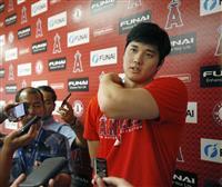 大谷が30球のトス打撃 田中、前田は投球練習