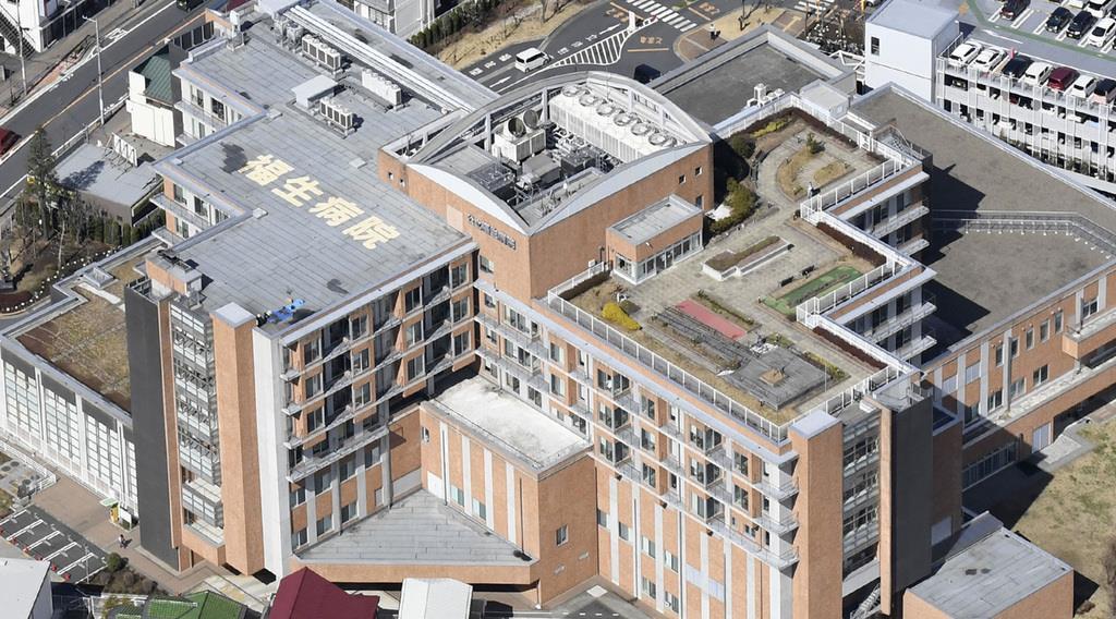公立福生病院=8日午前、東京都福生市