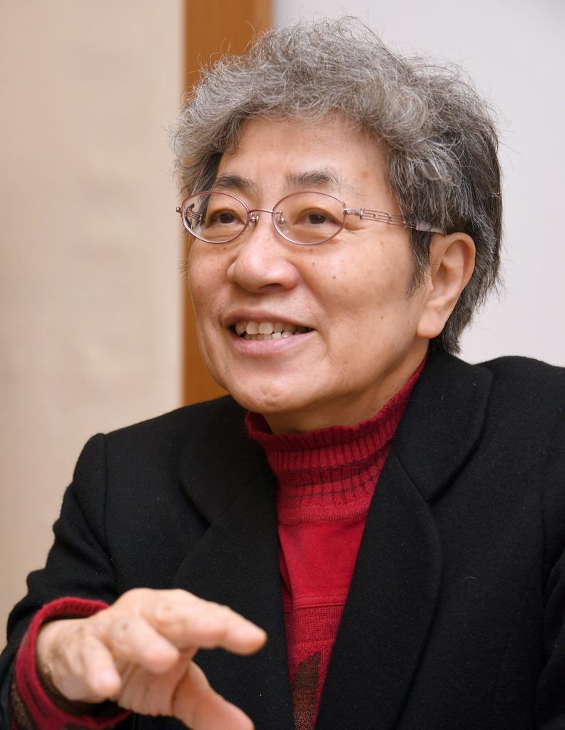 秋山正子さん(宮川浩和撮影)