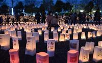 優しい鎮魂の明かり 取手で震災復興イベント