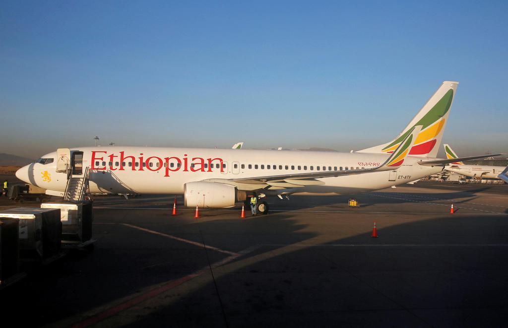 エチオピア航空のボーイング737=2017年1月、アディスアベバ(ロイター)