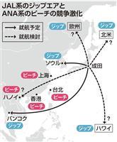 日航とANA、LCCで激突 舞台は手強い中距離国際線