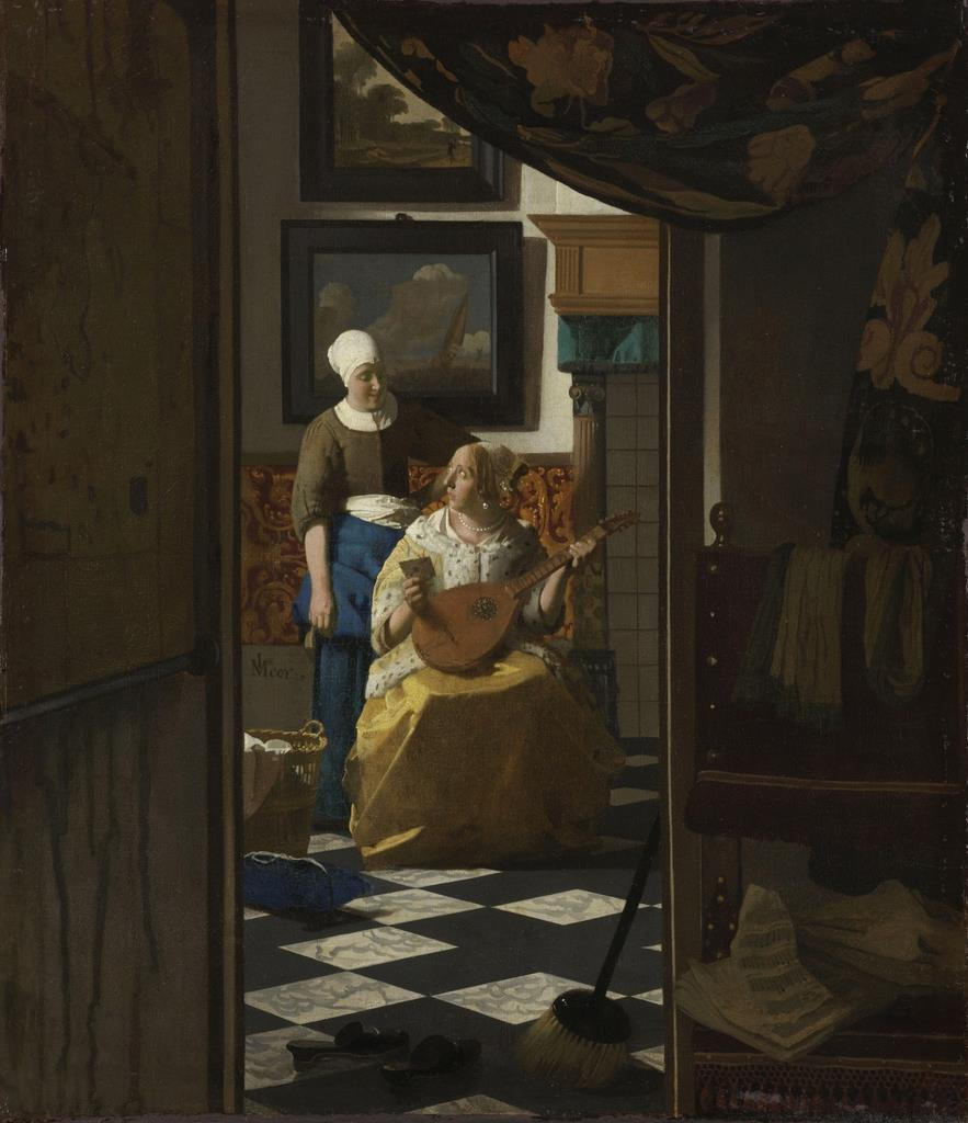 ヨハネス・フェルメール《恋文》1669-1670年頃 アムステルダム国立美術館 Rijksmuseum. Purchased with the support of the Vereniging Rembrandt, 1893