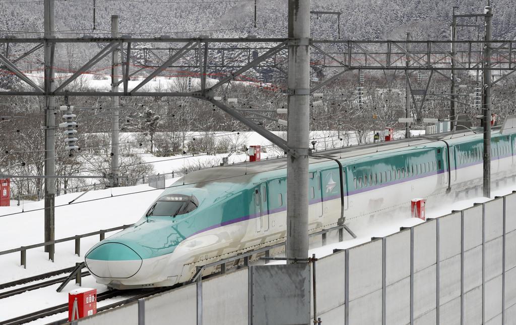 北海道新幹線=北海道知内町