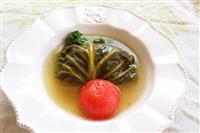 【料理と酒】ロールキャベツ トマトは丸ごと入れました