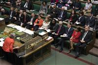 「合意なき離脱」拒否 英議会が可決 延期可能性高まる