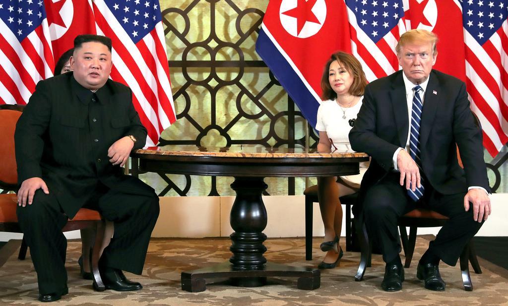 2月末にベトナムで行われた米朝首脳会談(ロイター)