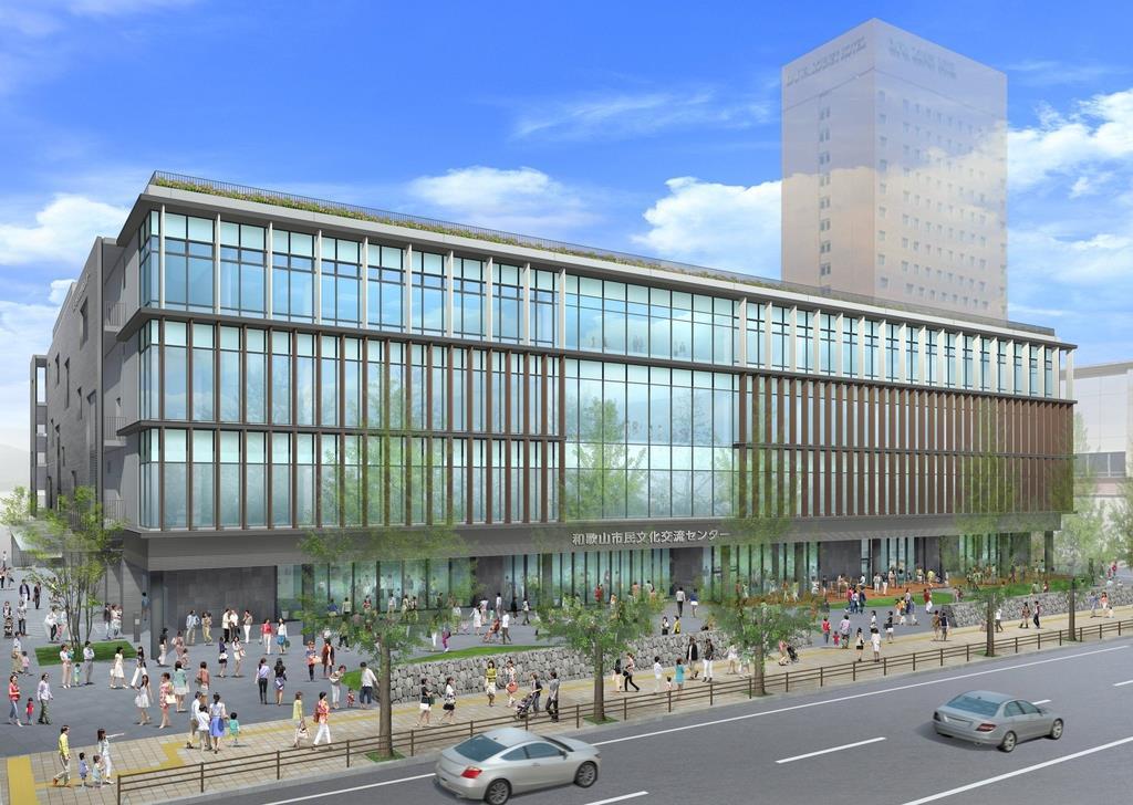 新市民会館の完成予想イメージ(和歌山市提供)