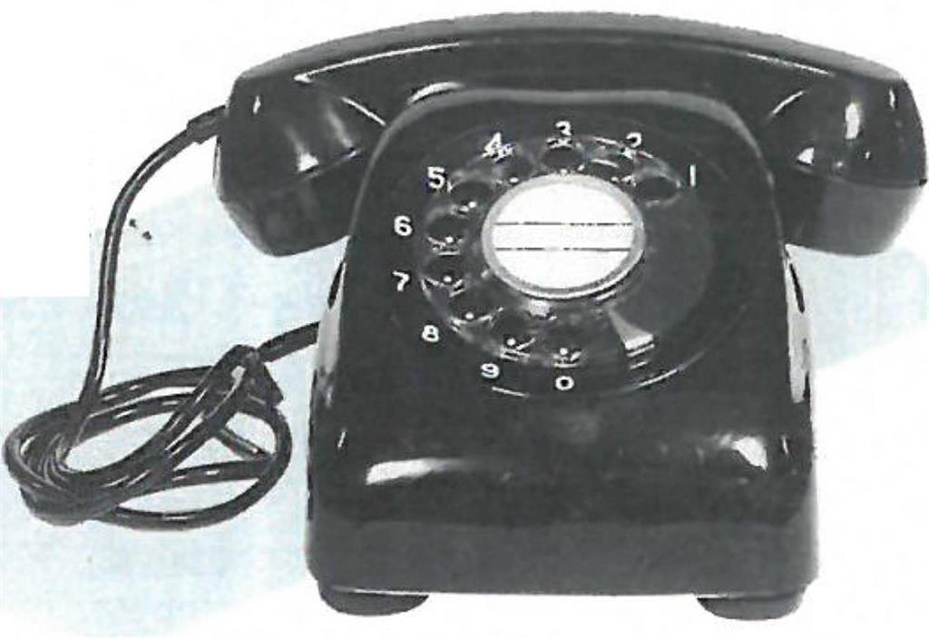 当時の電話機用コード
