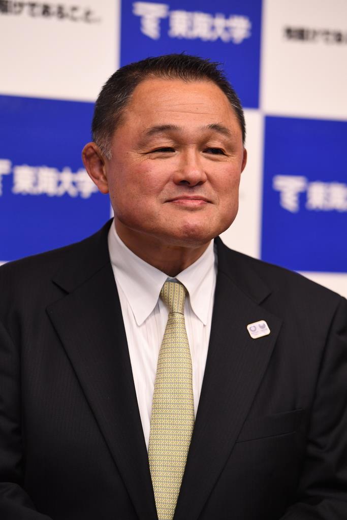 JOCの山下泰裕選手強化本部長(撮影・高橋朋彦)