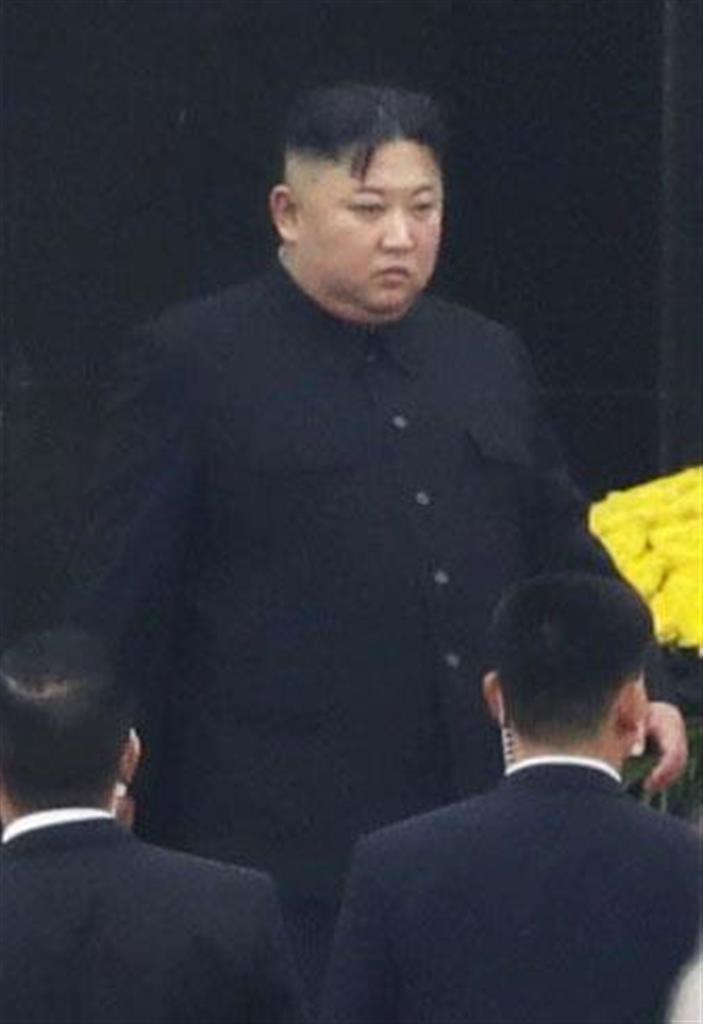 北朝鮮の金正恩朝鮮労働党委員長=2日(共同)