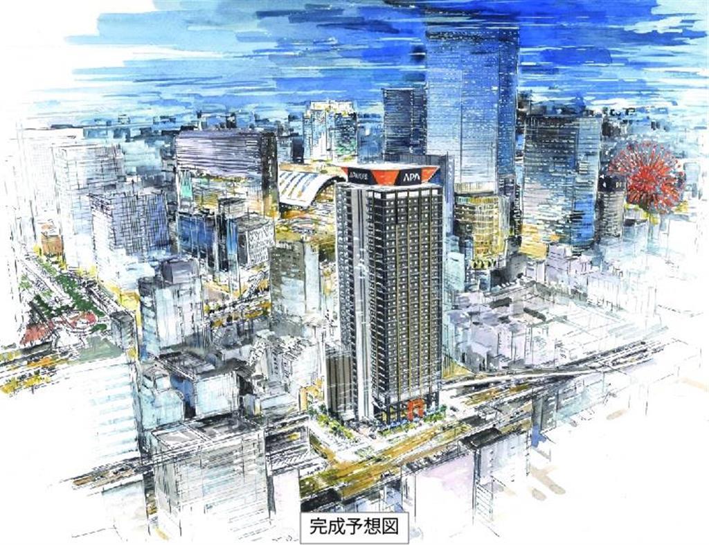 新ホテルの完成イメージ(アパグループ提供)