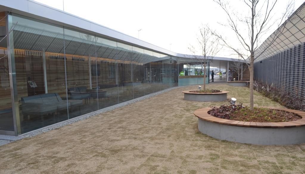 尼崎市の市花「ハナミズキ」が植えられたハナミズキ広場=15日午後、尼崎市南城内(中川三緒撮影)