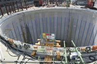 リニアの非常口新設工事、地下水で掘削作業中断 名古屋