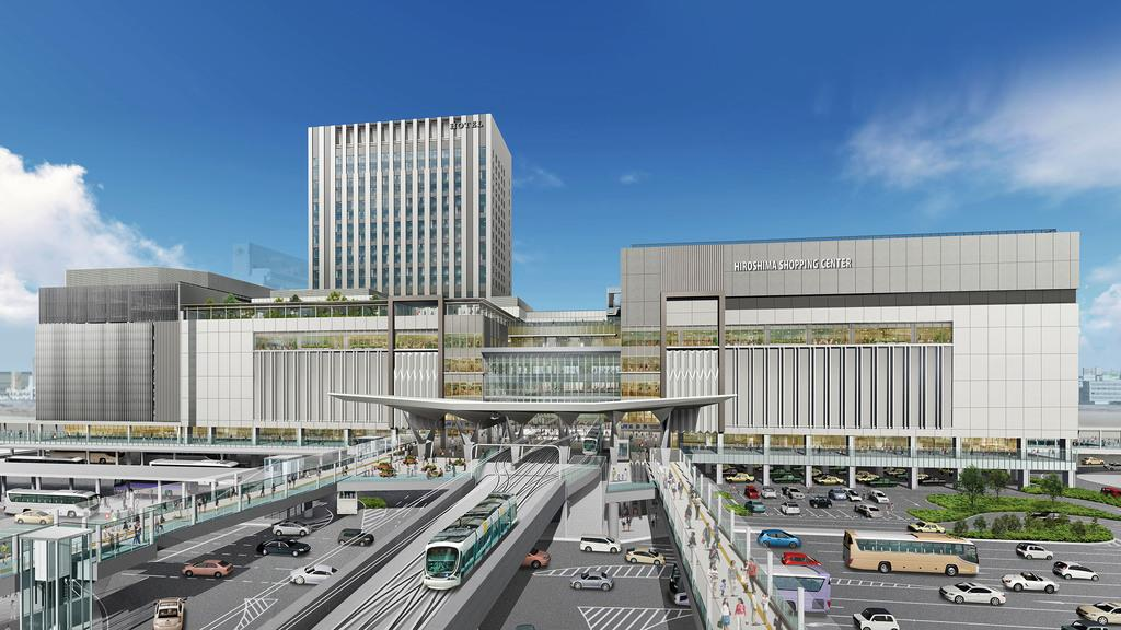 広島駅ビルの完成イメージ(広島市提供)
