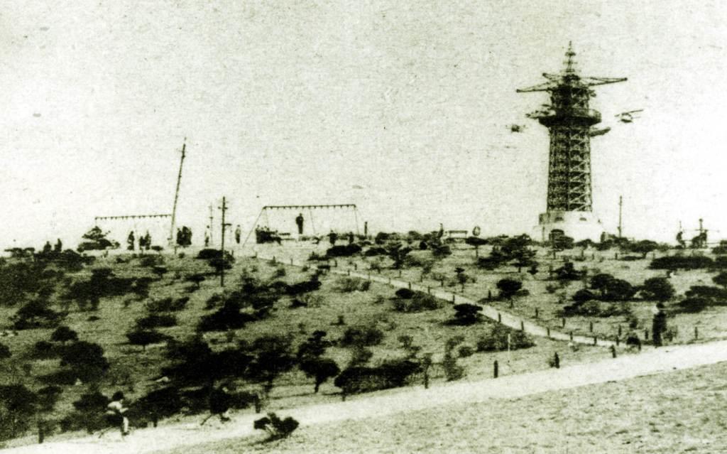 開業当時の生駒山上遊園地(近畿日本鉄道提供)