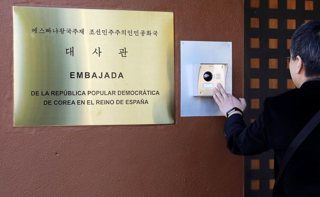 マドリードの北朝鮮大使館(ロイター)