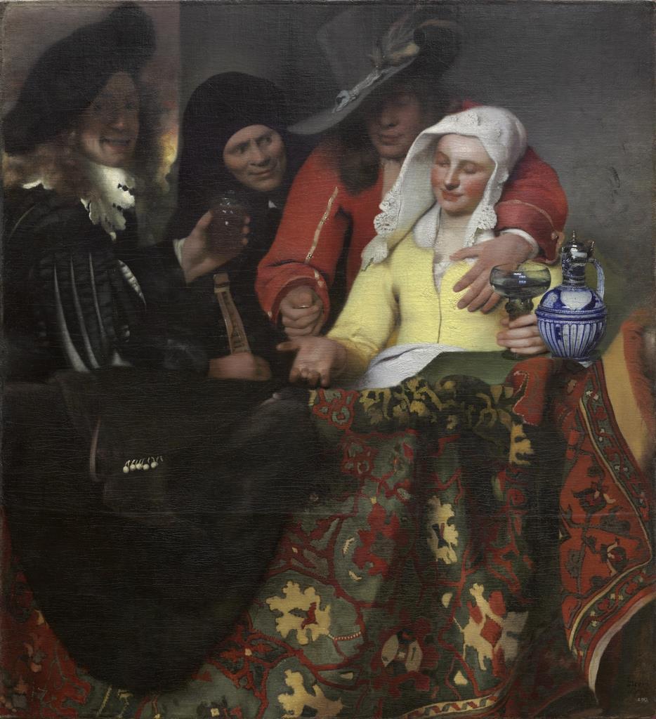 ヨハネス・フェルメール ≪取り持ち女≫ 1656年 ドレスデン国立古典絵画館bpk / Staatliche Kunstsammlungen Dresden / Herbert Boswank / distributed by AMF