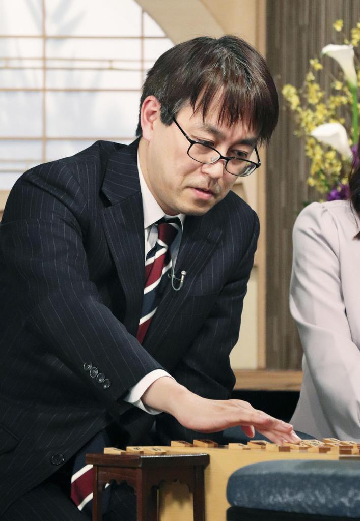 将棋の第68回NHK杯戦で優勝し、一般棋戦で優勝45回の新記録を樹立した羽生善治九段=2月18日、東京都渋谷区のNHK