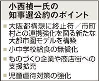 「都構想に終止符」大阪府知事選候補の小西氏が公約