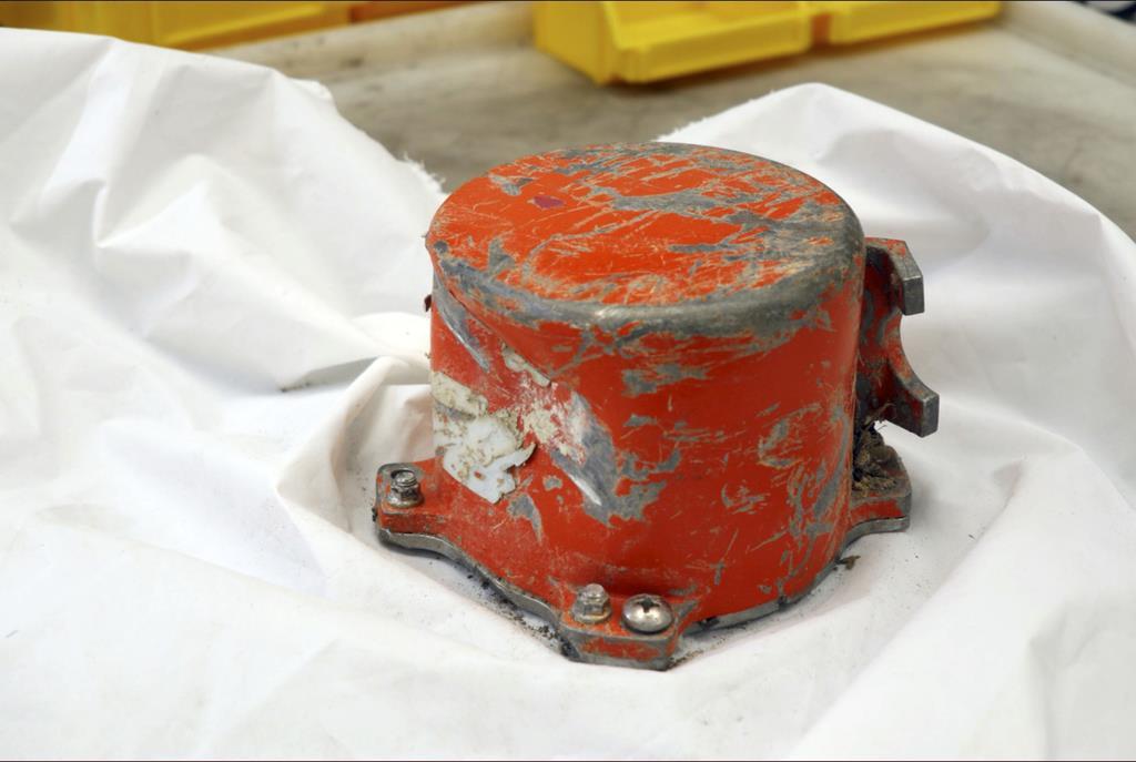 エチオピア航空機から回収されたボイスレコーダー=16日、仏ル・ブルジェ(AP)