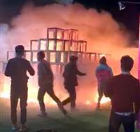 安全基準ない屋外アート、立件で主催者にも警鐘 神宮外苑男児死亡火災