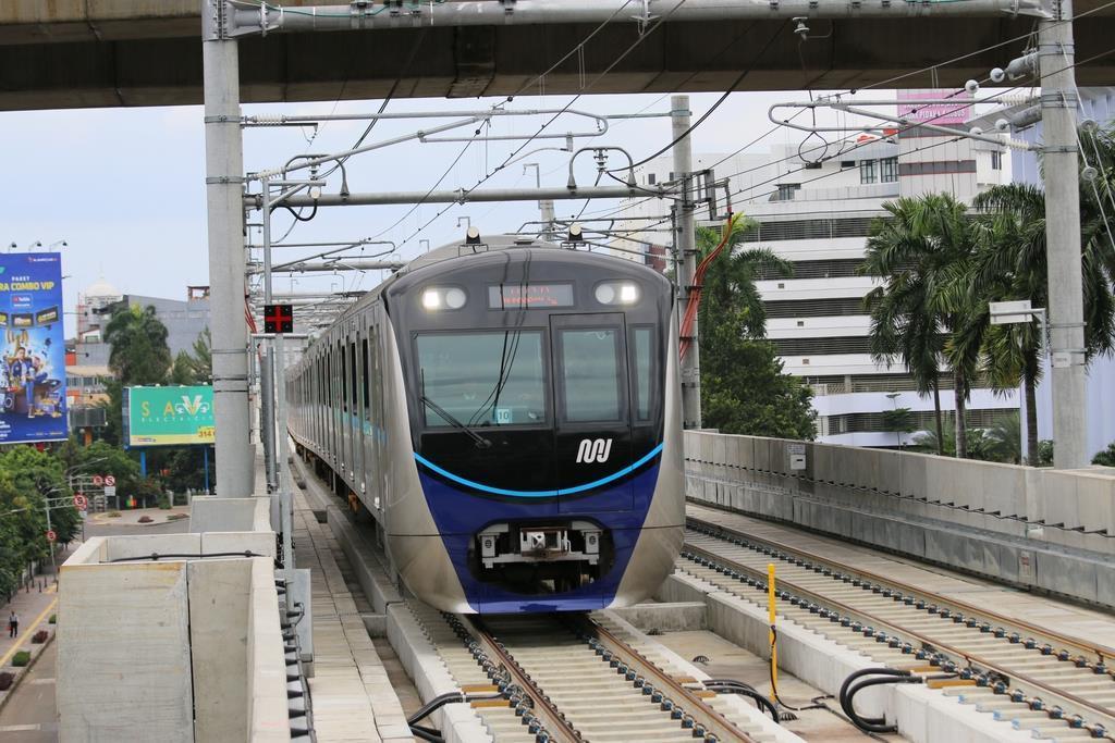 18日、試乗会が行われている、インドネシア初となる地下鉄を含むジャカルタの都市高速鉄道(MRT)