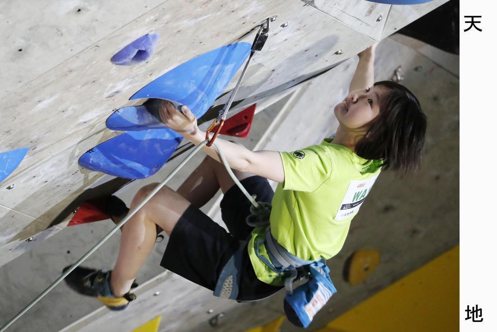 リードのジャパンカップ女子で2位に入った森秋彩=印西市松山下公園総合体育館
