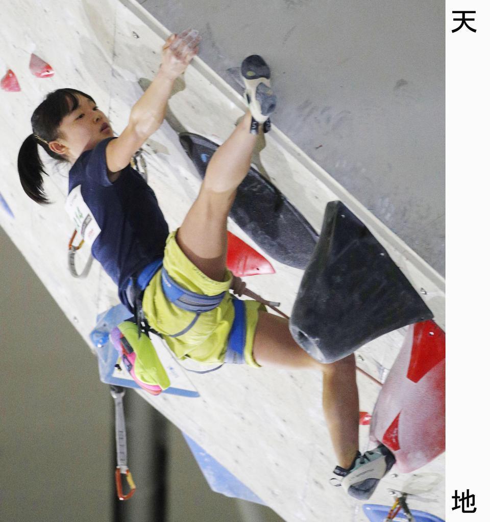 リードのジャパンカップ女子で3位に入った平野夏海=印西市松山下公園総合体育館